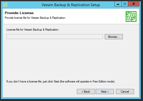 Veeam Backup Free Edition – Install | port115