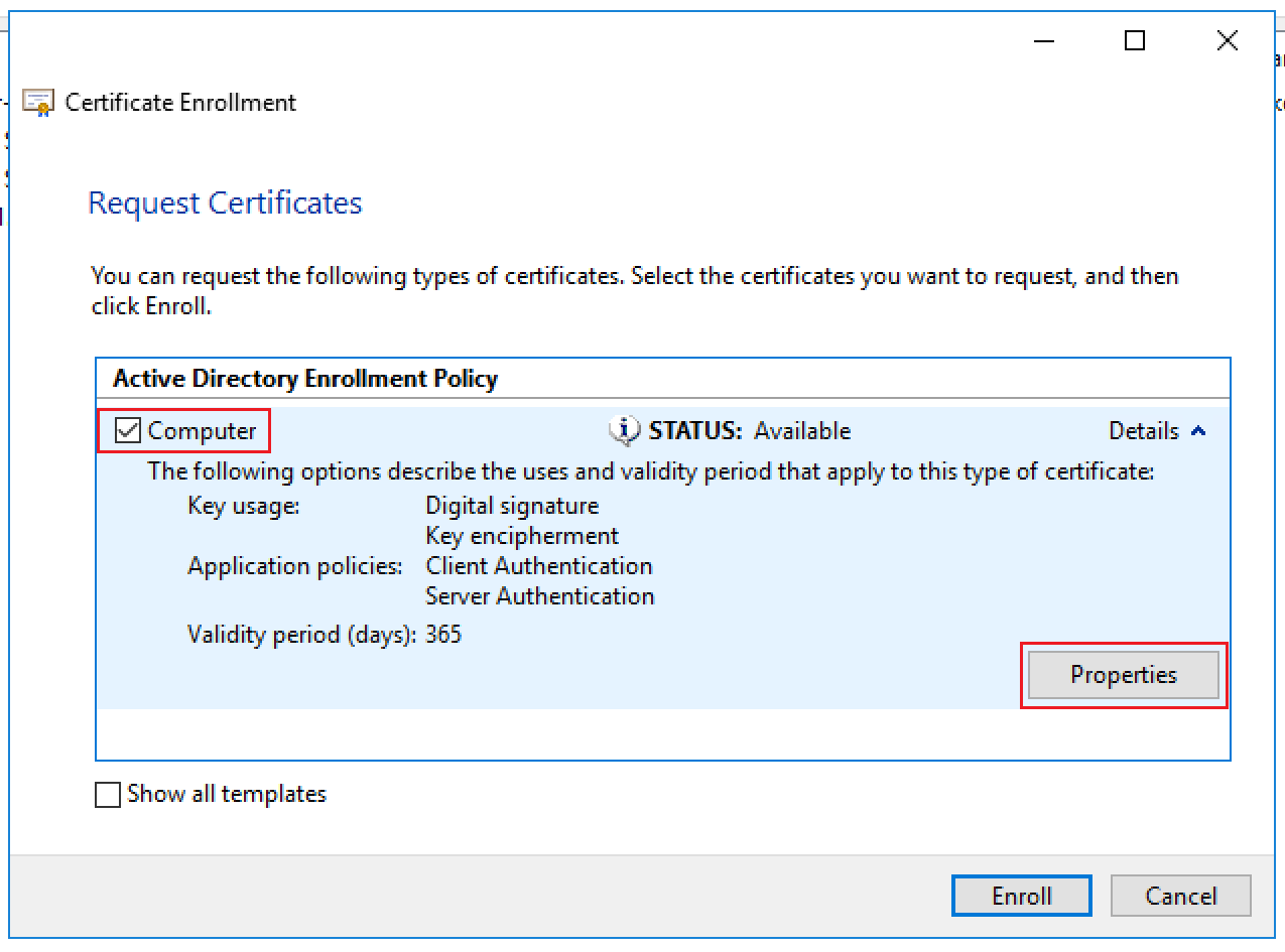 Preparing for Horizon View – Connection Server Certificate